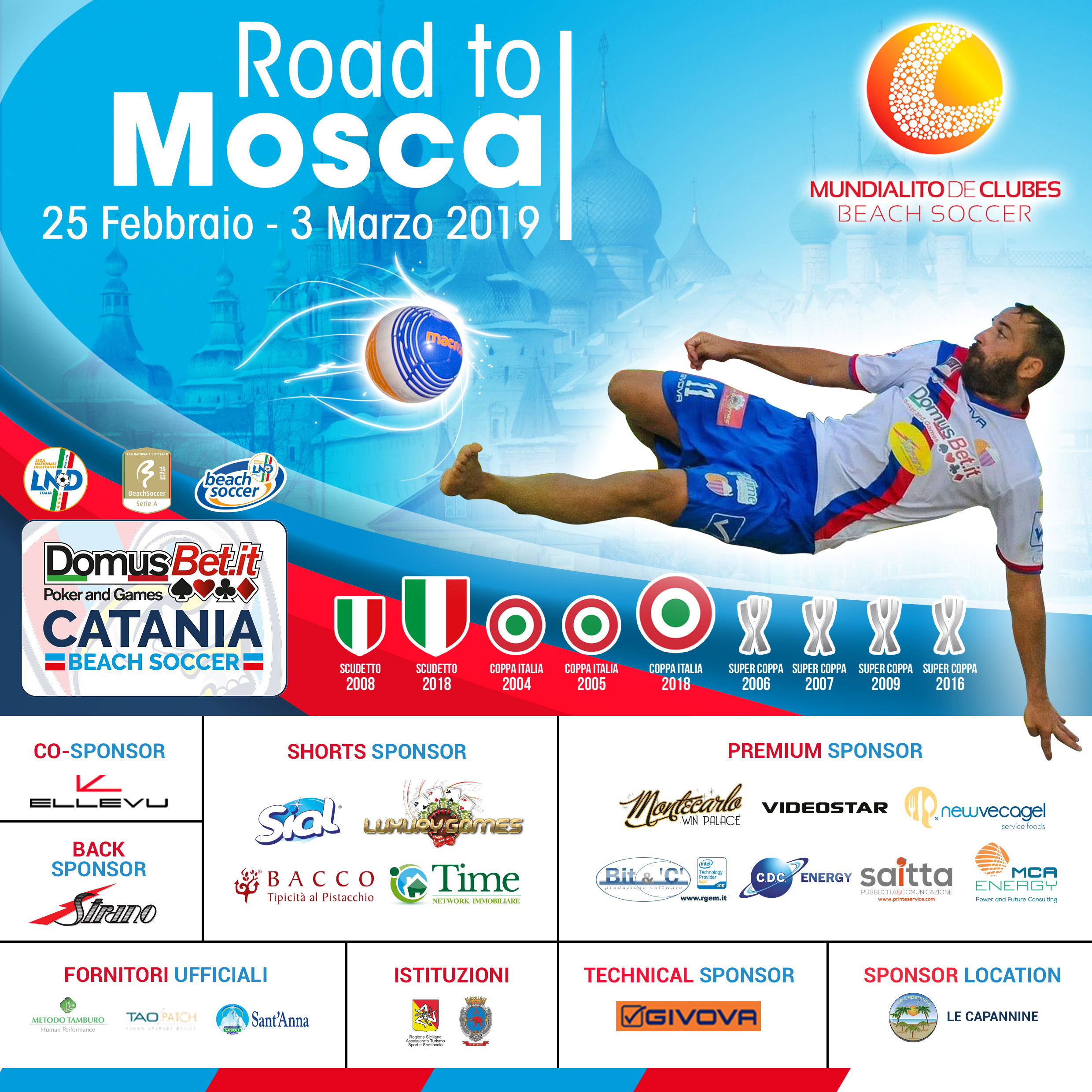 La Domusbet Catania Bs al Mundialito per Club. Road to Mosca